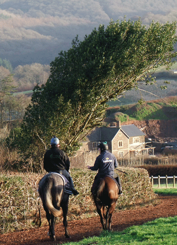 Thorne Farm Racing view towards Exmoor